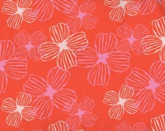 Flowers, Daydreams by Moda, Orange Fabric, Floral Fabric, Orange Floral Fabric, 05085