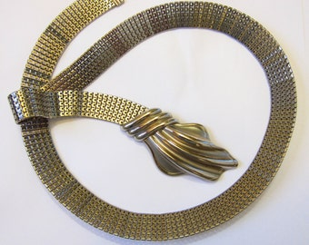 Vintage Silvertone Chainmaille Belt