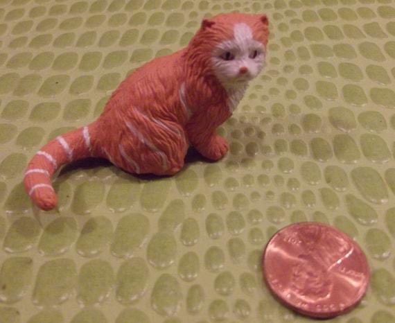 Tabby Cat Figurine For Doll House