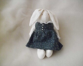 Vintage Muslin Rabbit Stuffed Animal Easter Bunny Toy Decoration Vintage
