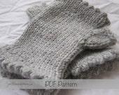 PDF FILE - Dorset Mitts Child Size - Handwarmer Knitting Pattern - Fingerless Mitts Knitting patterns for little girls