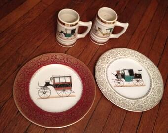 Antique Car China Plates & Mugs