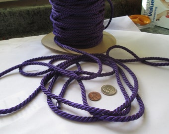 Purple Twisted Cord, Cording, Roping 3/16 inch or 5 mm by 15 Yard  Lengths