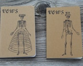 Skeleton Bride & Groom Wedding Vow Books