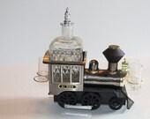 Vintage Musical Train Liquor Decanter
