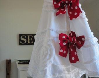 Christmas Tree Skirt - French Country Decor - Shabby Chic Tree Skirt