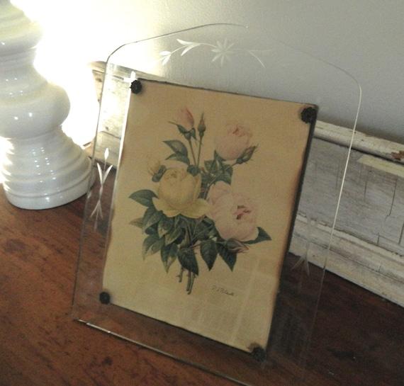 hold for judy vintage etched glass frames