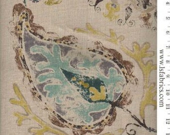 Turquoise, Gold, Brown and Natural Pillow Covers / Junoon Designer Fabric