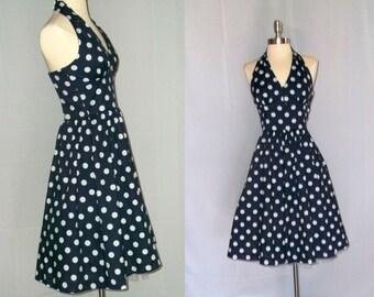 SALE - Vintage Inspired Halter Dress With Full Petticoat Slip