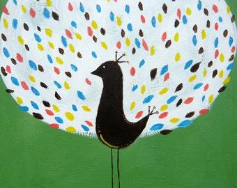 Peacock Print-Nursery Art