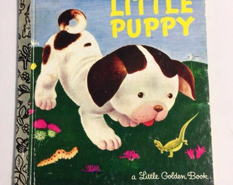 The poky little puppy book, little golden book, vintage children's book, collectors book, kids book