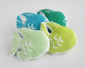 Small baby pillow -  Fish small cushion for baby crib -  Nursery decoration