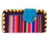 Handmade Women's Genuine Multicolored Leather Wallet