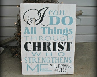 I Can Do All Things - Philippians 4:13 - Christian Art - Scripture - Inspirational - Motivational - Gift