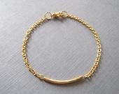 Delicate Gold Chain Bracelet - Minimalist Gold Layering Bracelet