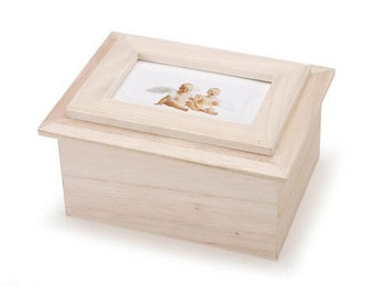 Wood Box with Picture Frame Lid