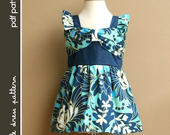 NEW Naomi Dress - PDF Pattern - Size 12 months to 8 years old and tutorial, PDF Downloadable, Easy Pattern
