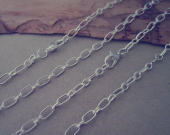 20pcs 26inches  Silver color pendant chain 3mmx6mm