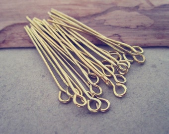 200 pcs  gold color eye pins 35mm