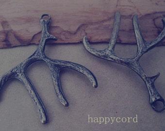 10pcs of Antique bronze deer antlers pendant charm 40mmx52mm