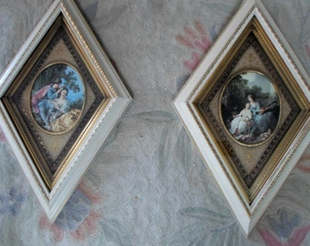 Pair of Framed Prints Vintage Romantics Turner Accessories