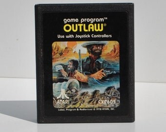 Atari 2600 Outlaw Game From Atari 1979
