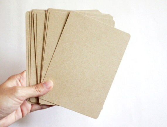 Kraft Paper Note Cards