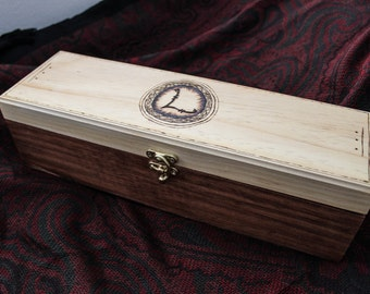 Wands by Larsen Woodburned wand box
