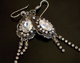Swarovski Crystal Earrings  - More colors - Victorian Gothic Jewelry
