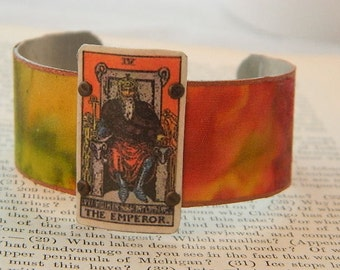 Tarot bracelet tarot jewelry Emperor tarot mixed media jewelry
