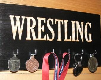 Wrestling Medals Hanger  : Wrestling Medal Display Rack  Ribbon Awards Hanger Wrestling Medal Holder