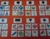Shape Sorting (Grouping) Felt Board / Flannel Set OR Flash Cards for Toddler, Preschool Learning, Kindergarten, Kids Educational Toy