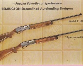 "Ca. 1980s Remington ""Autoloading"" Model 11-48 and Sportsman 48 Advertising Postcard - 1572"
