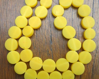 10mm coins 1 x strand solid yellow