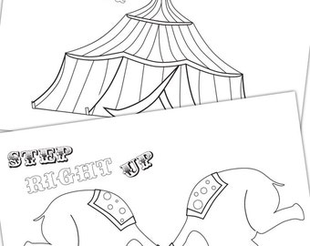 Circus Colouring Pages - Circus Party Printables