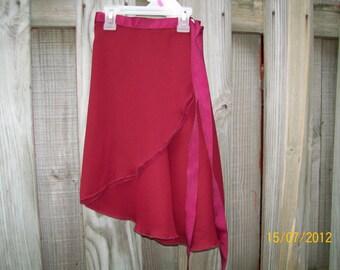 """Adult/Teen X-Long 19"""" Wrap Skirt, Ballet Skirt, Ballet Wrap Skirt, Dance Skirt, Ice Skating Skirt"""