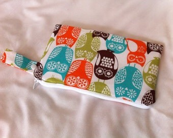Insulated Snack Bag in Swedish Owls