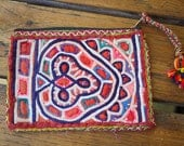 Bohemian Vintage Indian Textile Small Pouch