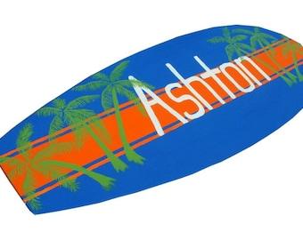 Surfboard Sign, Personalized Surfboard Wall Art, Beach Themed Nursery Decor, Boys Bedroom Decor, Beach House Decor, Decorative Surfboard