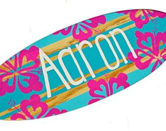 Surf Decor, Custom Beach Signs, Turquoise Beach Themed Wall Decor