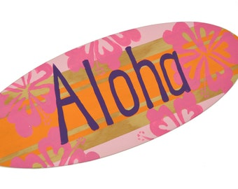 Aloha Sign, Decorative Surfboards for your Tropical Decor