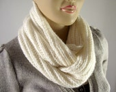 KNITTING COWL PATTERN Scarf - I love Snow - Cowl Infinity Scarf Pdf File Instant Download