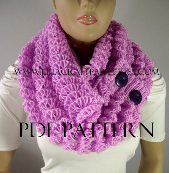 Knitting Pattern For Angel Wings : KNITTING PATTERN SCARF Angel Wings Cowl Chunky Scarf pdf