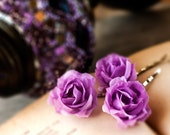 71_Hair pins flowers, Flower hair pin, Violet hair pins, Purple flower, Rose, Lilac rose, Hair rose, Hair roses, Hair clips roses Floral pin