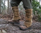 Viking Fur Leggings / Boot Covers, Leg Warmers - Medieval, Renaissance Fair Costume Accessory - Faux Fur CHOOSE YOUR COLOR!