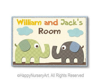 Twins nursery door sign,Personalized door sign, Baby boys nursery sign, brother sister sign, kids art,boy wall art,brothers nursery sign