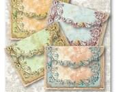 Digital Collage Sheet Download - Antique Frame Envelopes -  546  - Digital Paper - Instant Download Printables