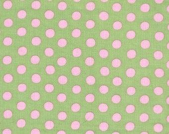 Kaffe Fassett - Spots Mint Green and Pale Pink - 1/2 yard cotton quilt fabric 516