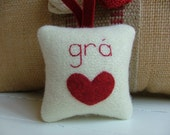 Custom Listing for Myra - gra with red heart