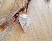 quartz crystal arrowhead necklace
